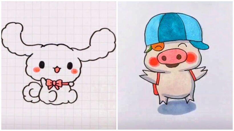 Vẽ tranh dễ thương, hoạt hình vui vẻ