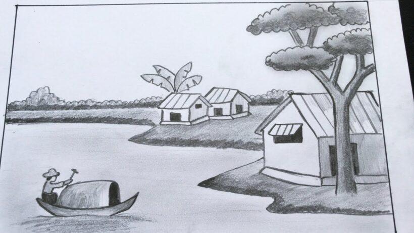 Vẽ tranh đẹp phong cảnh bằng bút chì