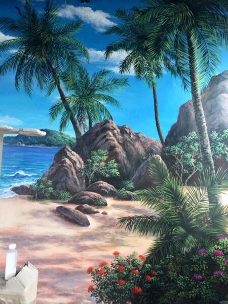 Vẽ tranh đẹp về bờ biển