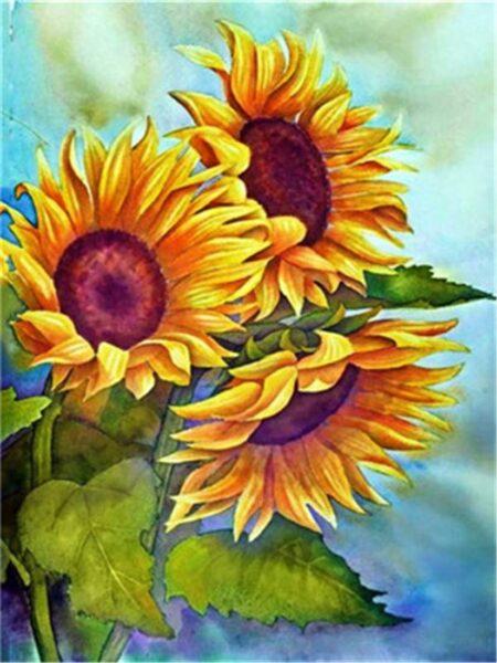 Vẽ tranh đẹp về hoa Hướng Dương