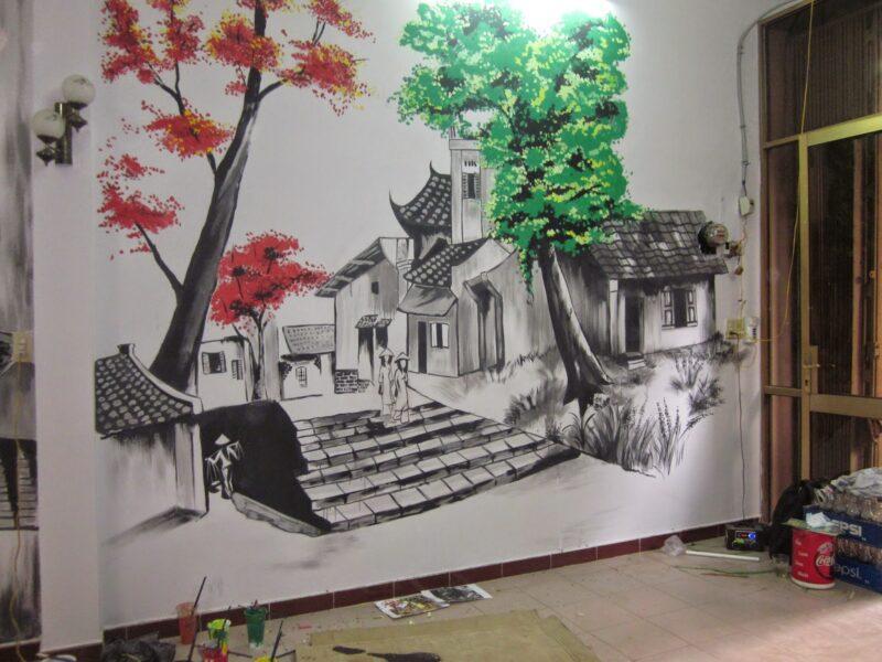 Vẽ tranh tường 3D đẹp