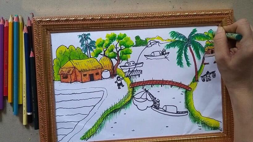 Vẽ tranh về đề tài quê hương Việt Nam