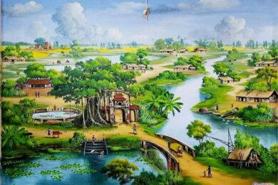 Vẽ tranh về đề tài quê hương bình dị, đơn giản mà đẹp nhất