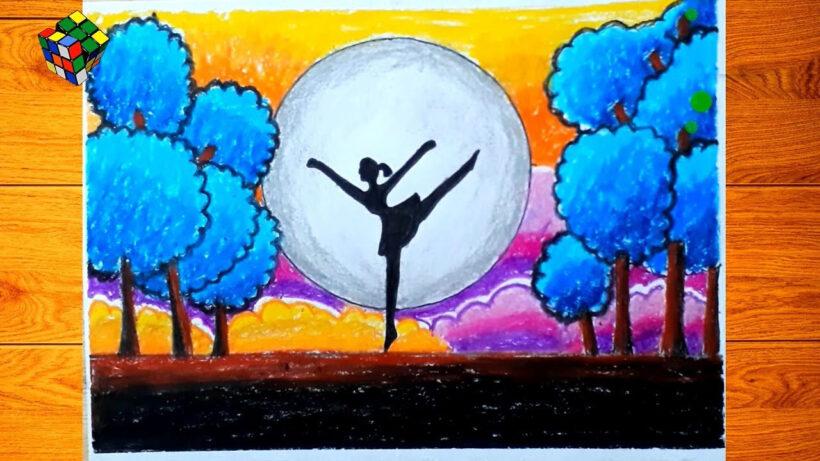 vẽ tranh đề tài ước mơ của em là nghệ sĩ múa vale
