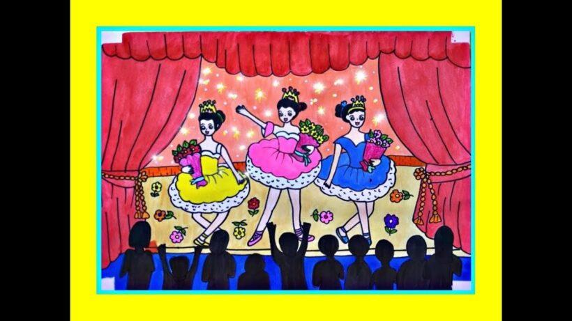 vẽ tranh đề tài ước mơ của em làm diễn viên múa