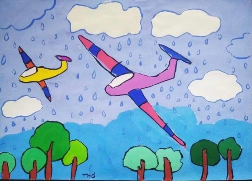 vẽ tranh đề tài ước mơ của em làm phi công